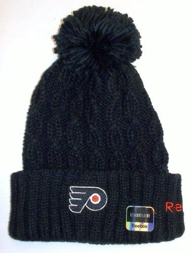 Reebok Philadelphia Flyers Patch - Reebok Philadelphia Flyers Womens' Knit Hat With Pom One Size Fits All