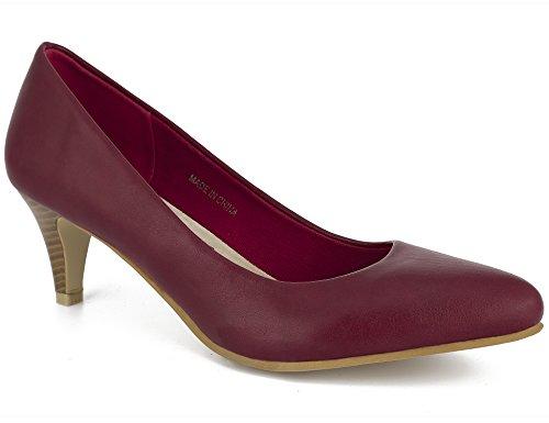 Femmes Fête 41 Bas 36 Solide à Bordeaux Élégant Greatonu pour Chaussures Talon EU Pointu Talons pour Fermé qA0t7Cw