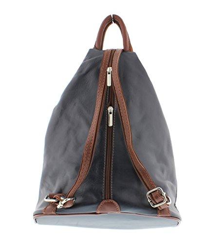 Vera Pelle - Bolso mochila  para mujer Talla única Navy/Brown