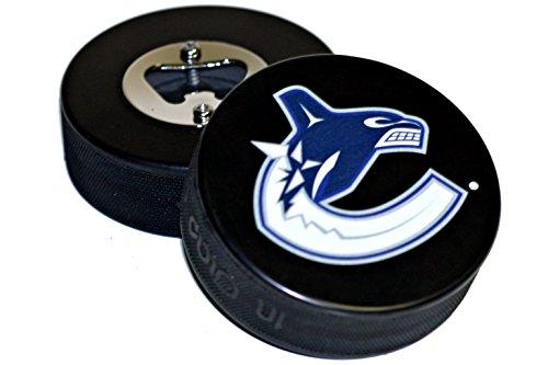 fan products of Vancouver Canucks Basic Logo NHL Hockey Puck Bottle Opener