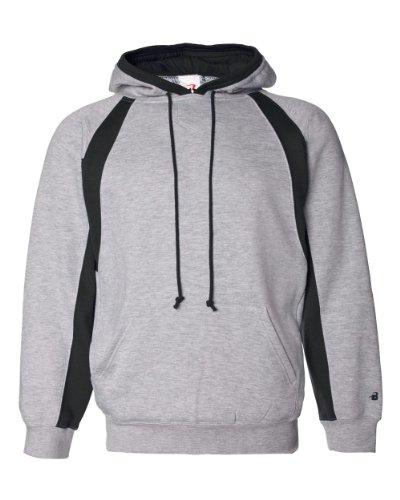 Badger Sport Hook Hooded Sweatshirt - 1262 - Oxford / Black - (Badger Hooded Sweatshirt)
