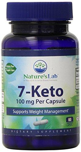 Laboratorio 7 Keto suplemento de la naturaleza, 100 Mg, 60 Count