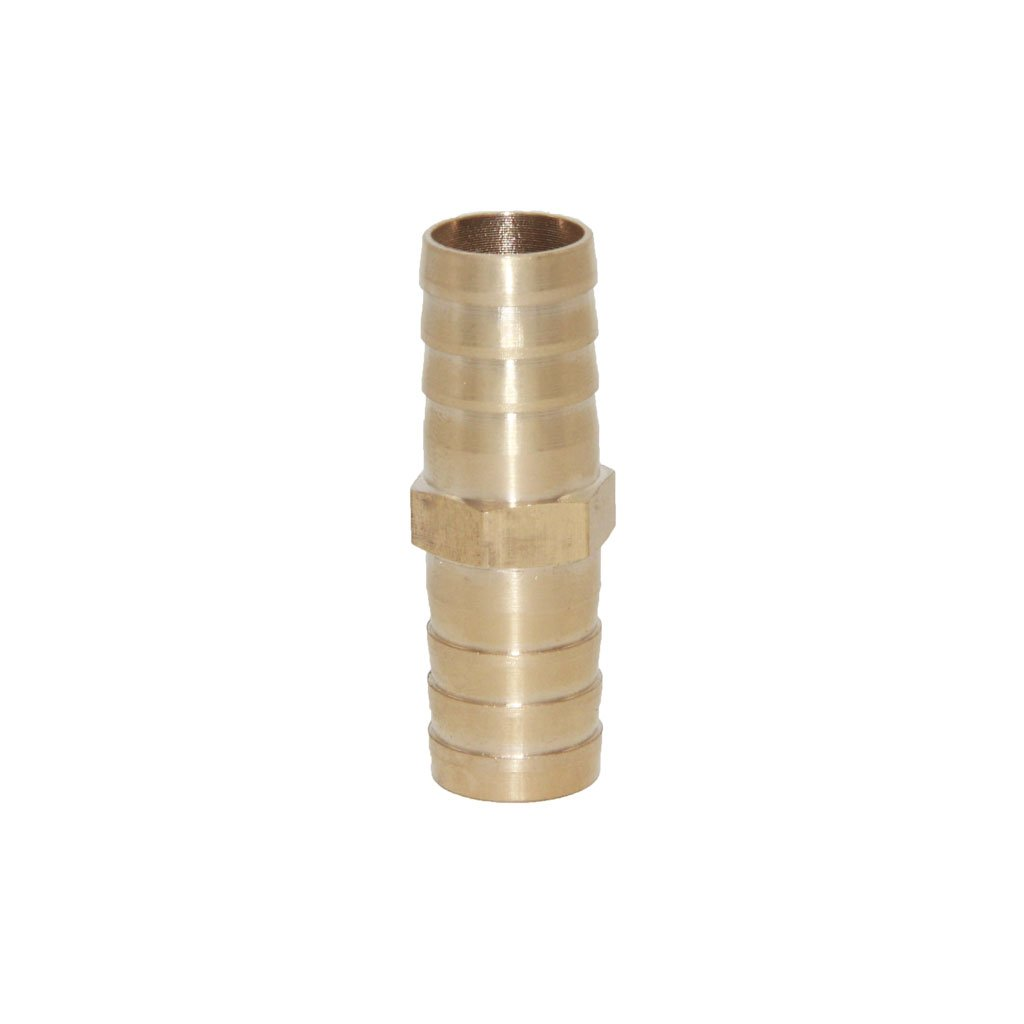 Joyway 5/8 ID Hose Barb, Hex Union Fitting Intersection/Split Brass Water/Fuel/Air
