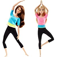 Barbie Made to Move Barbie Doll, Blue Top and Made to...