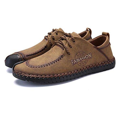 Suaves Zapatos cómoda los Zapatos al de británicos Ocasionales Retros de Desgaste de Guisantes Resistentes Goma Suela Caqui Moda del de Hombres Bajos los Guantes Negocio xFYFrqvw