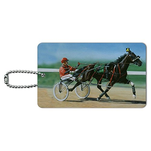 Harness Racing Horse Sulky Trotter Luggage Card Suitcase Carry-On ID Tag -  GRAPHICS & MORE, IDTAG.RECT.QQJQLMG00.Z001443_8