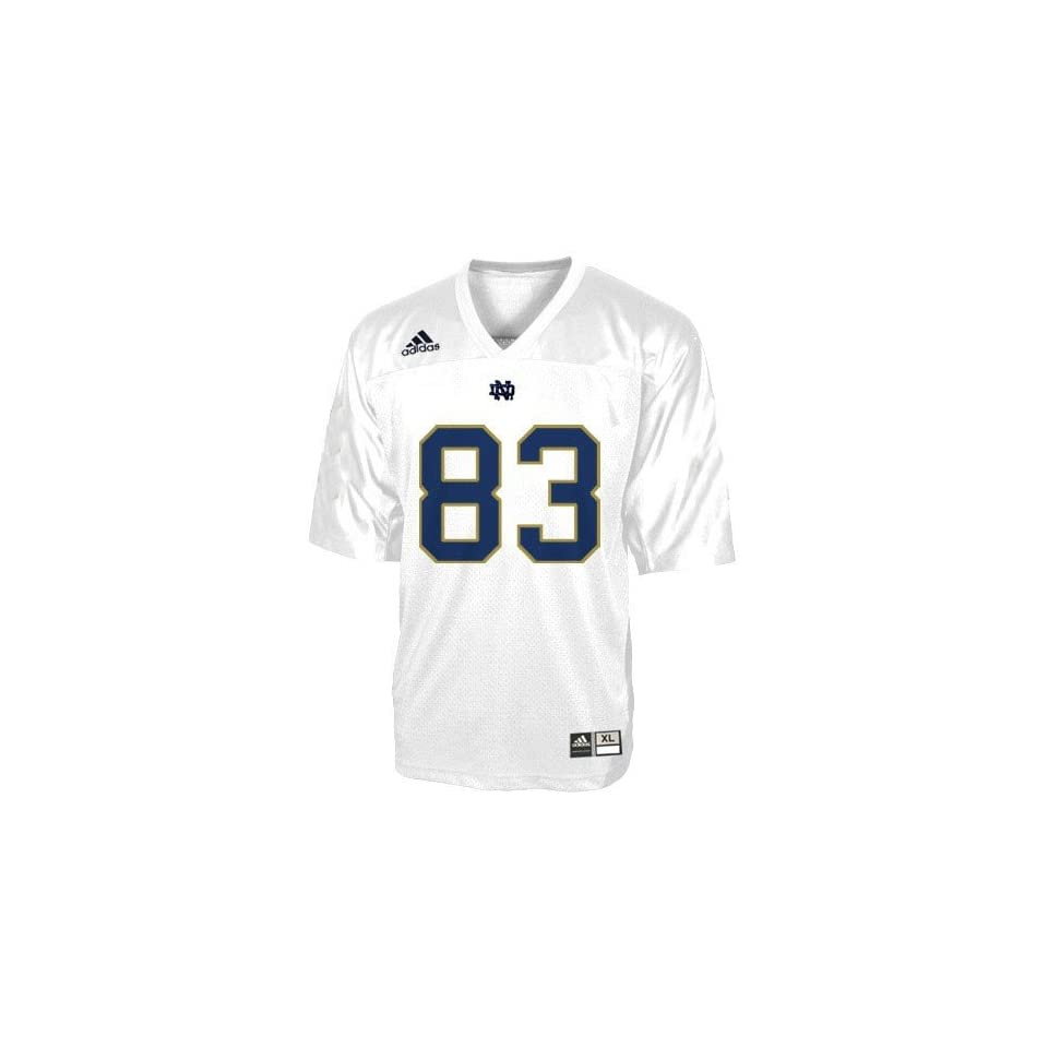 adidas Notre Dame Fighting Irish #83 White Preschool Replica Football Jersey