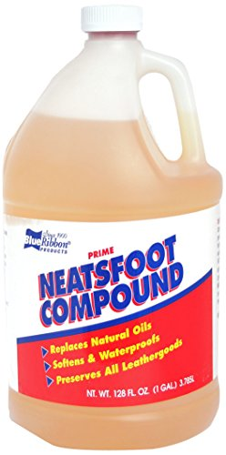 Blue Ribbon Neatsfoot Oil Leather Protector, 128 Fluid Ounce (Pack of 4) by Blue Ribbon