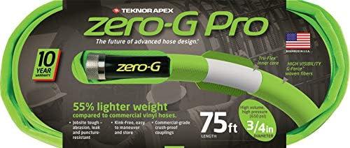 """Pro Garden Hose zero-G 4300-75 zeroG Green 3//4/"""" x 75/'"""
