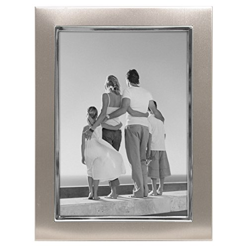 malden international designs uptown matte silver with silver fashion metal frame 5x7 silver - Metal Photo Frames