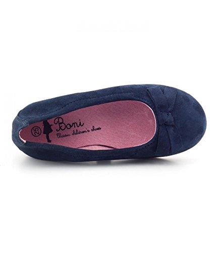 Boni Jane - Slipper für Mädchen Marineblaues Wildleder