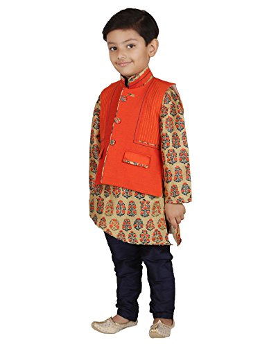 AJ Dezines Kids Indian Wear Bollywood Style Kurta Pyjama Waistcoat for Baby Boys by AJ Dezines (Image #1)