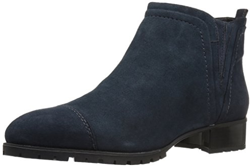 Nine West Women's Layitout Suede Boot, Navy, 6.5 M US