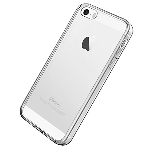 Ailun Phone Case Compatible with iPhone 5s iPhone SE iPhone 5 Shock-Absorption Bumper TPU Clear Cover[Crystal Clear]