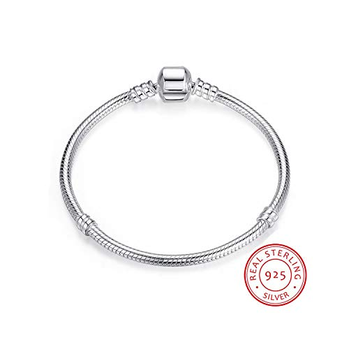Authentic Hermes Leather Bracelet - QIUHUAXIANG Authentic 100% 925 Sterling Silver Snake Chain Bangle & Bracelet Luxury Jewelry 17-21CM Women Gift,21cm