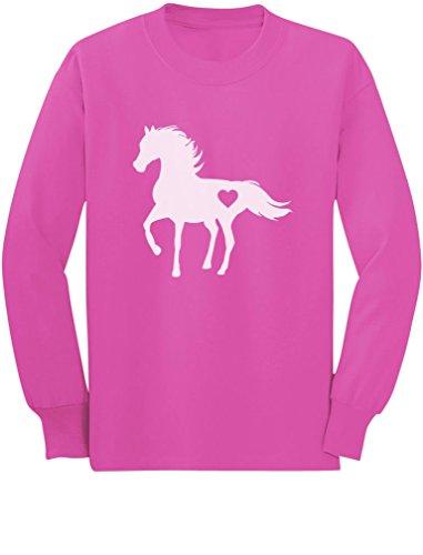 Tstars - Gift for Horse Lover Love Horses Toddler/Kids Long Sleeve T-Shirt 5/6 Pink