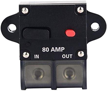 ST-ST ヒューズホルダーボックス、80A復元可能カー変更されたオーディオサーキットブレーカーマニュアルリセットスイッチヒューズホルダ 遮断器