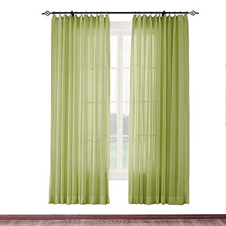 Amazon Com Cololeaf Indoor Outdoor Sheer Curtain Patio Porch
