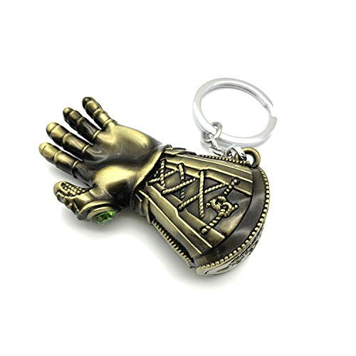 Thanos Glove Keychain Nidavellir Infinity Gauntlet Key Chain Marvel Avengers Key Ring (Bronze)