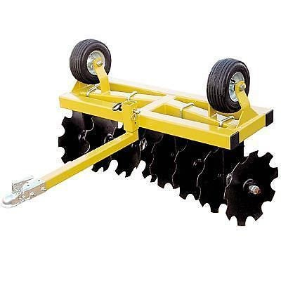 Streamline Industrial DISC CULTIVATOR Harrow - Tow Behind ATV UTV & Compact Tractor - 4 Ft Cut Width