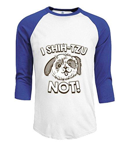 Eagle u2 Men's casual 3/4 Tshirt I Shih Tzu Not blue (Jersey Shore Outfits)