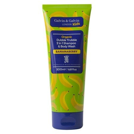Galvin & Galvin Kids Organic Double Trouble 2 in 1 Shampoo & Body Wash Bananaberry 6.7 Floz