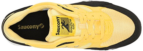 Saucony Unisex Adults' Shadow 6000 Running Shoes, Weiß/Rot/Türkis, US Yellow / Black