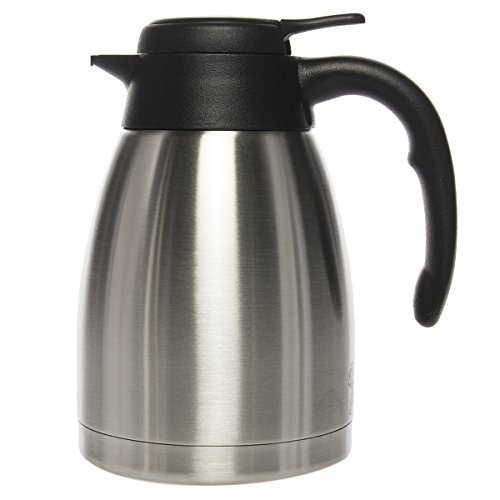 Service Ideas 1.2 Liter Coffee Pot Thermal Carafe Stainless Steel Pitcher For Hot Beverage Server Insulated ()