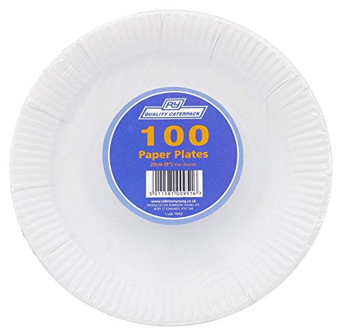 Robinson Plates (Robinson Young Disposable Paper Plates 230mm Ref 1642 [Pack 100])