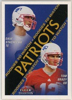 Tom Brady New England Patriots 2000 Fleer Tradition #352 Rookie Football (2000 Fleer Tradition Rookie Card)