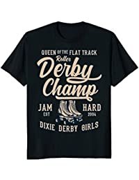 Queen Of The Flat Track Roller Derby Champ Jam Hard T-shirt