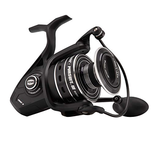 Penn Pursuit III 8000C Spinning Fishing Reel, Black/Silver, 8000