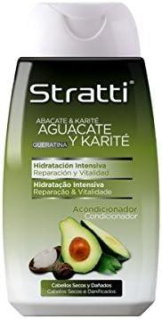 Acondicionador AGUACATE Y KARITE Pelo Dañado y secos - STRATTI 300 ml