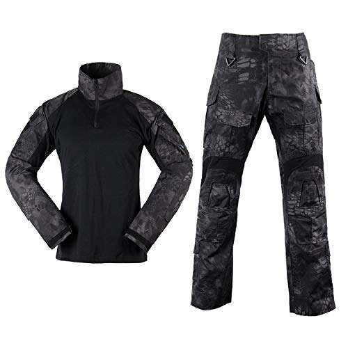 - SINAIRSOFT Men G3 Assault Combat Uniform Set Camouflage Tactical Shirt Trousers for Airsoft Hunting Paintball Typhon