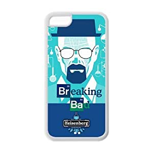 5C Case, iPhone 5C Case - Fashion Style New Breaking Bad Painted Pattern TPU Soft Cover Case for iPhone 5C (Black/white) Kimberly Kurzendoerfer