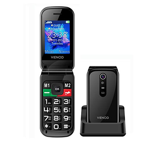 🥇 VIENOD VF241 Teléfono Móvil para Mayores con Tapa