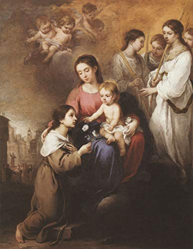 (Home Comforts Peel-n-Stick Poster of Murillo, Bartolomé Esteban Perez - Madonna and Child with Saint. Rosalie Vivid Imagery Poster 24 x 16 Adhesive Sticker Poster Print)