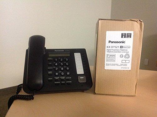 Panasonic 8 Button 1-Line Backlit LCD Display Digital Telephone w/Full Duplex Speaker Phone Black (KX-DT521-B)
