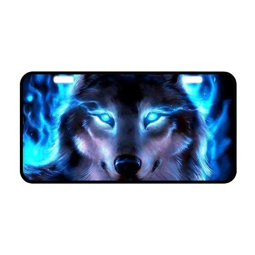 Designer License Plate - JIJIDA Wolf Novelty License Plate Metal Vanity Tags