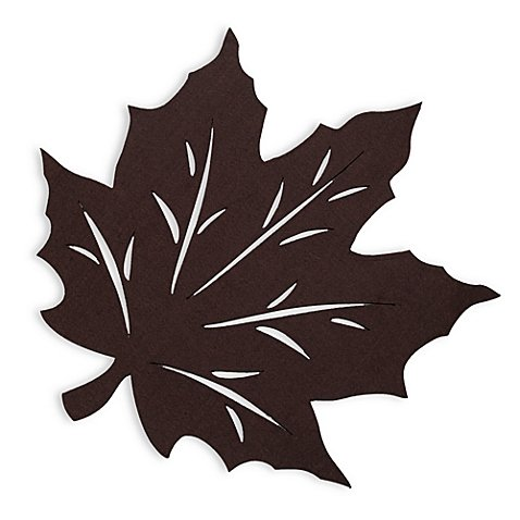 Christmas Tablescape Décor - Brown Felt Leaf Placemat