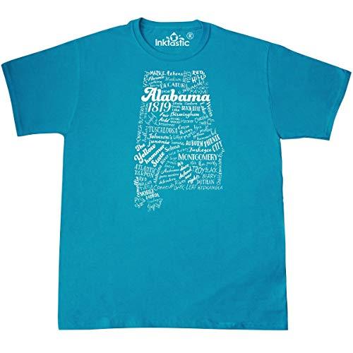 inktastic Alabama State Word Salad T-Shirt XXX-Large Pacific -