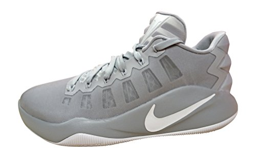 Nike Hyperdunk 2016 Lage Mannen Basketbalschoenen Wolf Grijs Wit 010