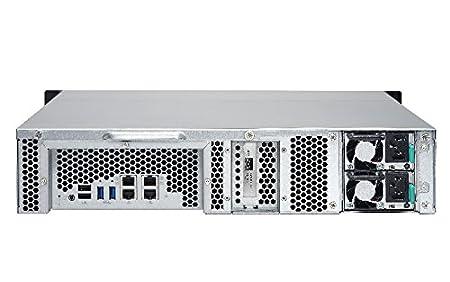 QNAP TS-1263U-RP Ethernet Bastidor (2U) Negro, Metálico NAS - Unidad RAID (Unidad de disco duro, SSD, SATA, Serial ATA II, Serial ATA III, 2.5,3.5