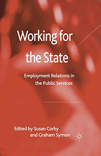 Download Working for the State: Employment Relations in the Public Services Pdf