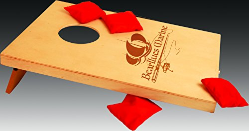 Mini Cornhole Portable set with toss bags, Custom engraved with your Message, Logo/Graphic by SLD Awards Line