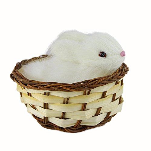 STARLIT moda Lovely simulación animal de peluche muñeca Mini cesta gato, conejo perro de peluche juguete Navidad de niños,...