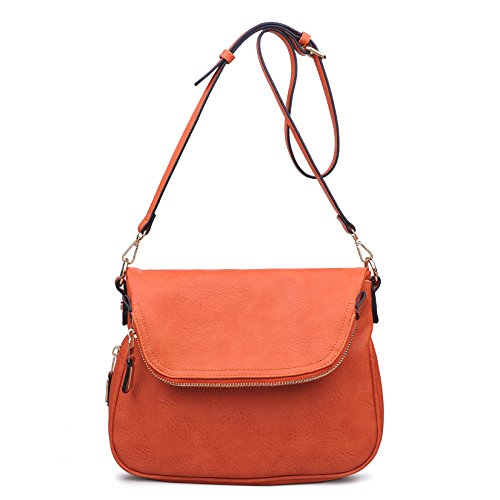 Women's Bag Moda Dandelion Salmon Stylish Luxe Assorted Crossbody Colors fXqq54wg