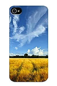 Hot Tpu Cover Case For Iphone/ 4/4s Case Cover Skin Design - Nature Fields hjbrhga1544