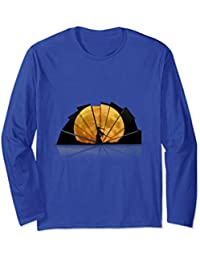 Cool 3D Design with Ninja in front of the Moon Long Sleeve