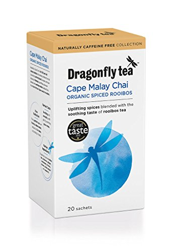 English Dragonfly Organic Teas, Cape Malay Rooibos Chai, 0.07-Ounce, 20-Count Box